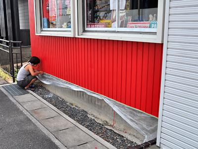 436)塗ってなかった外壁の一部をちょこっと塗装したって話