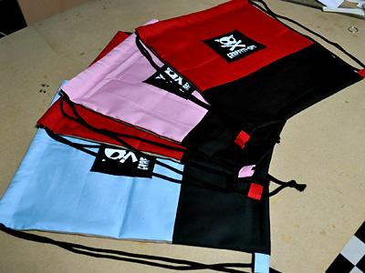 371)巾着リュックサック(ナップサックともいう)をいくつか作ってみた話
