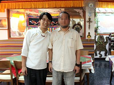 Potala Resturant店長さんとハーン